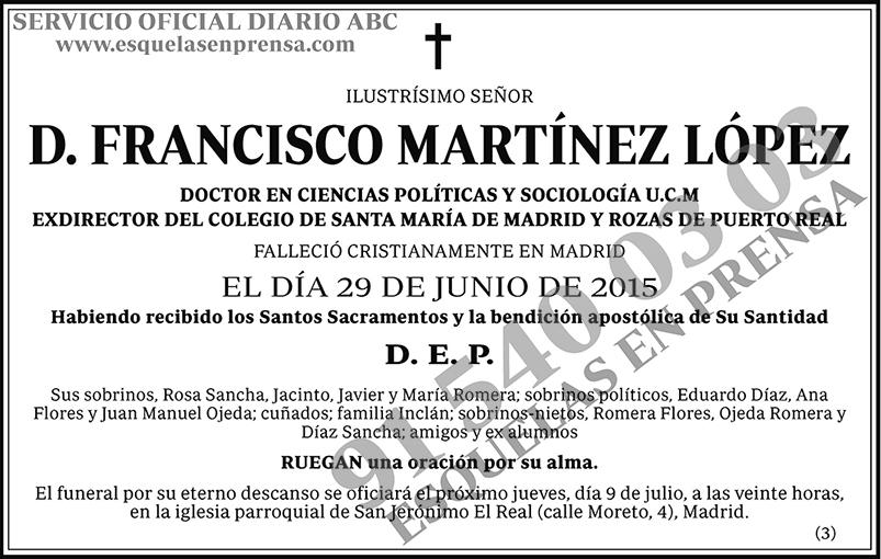 Francisco Martínez López